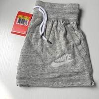 nike like fashion print exercise fitness gym yoga running shorts item type shorts material cotton polyester pattern print color dark gray size s m l xl