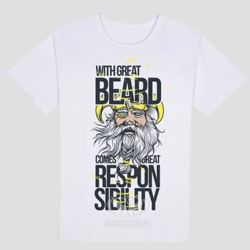 With Great Beard Comes Great Responsibility - T-shirt
