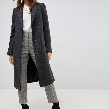 ASOS Slim Coat in Wool Blend at asos.com