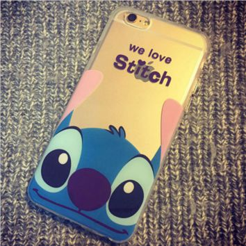 Silicone clear phone Case Stitch for iPhone 6 6 Plus 6s Plus 5s 5 5c 4 4s