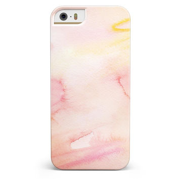 Peach Absorbed Watercolor Texture iPhone 5/5s or SE INK-Fuzed Case