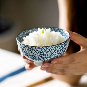 Japanese Style Ceramic Rice Bowls