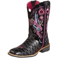 Ariat Women's Rodeobaby Rocker Boot,Black Anteater Print/Black Tattoo,9.5 M US
