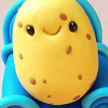 Miniature Potato, Cute Little Polymer Clay - Veggie Figurine Kawaii Style