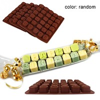 Alphabets Letters Chocolate Mold Jelly Ice Mold Tray Maker Silicone Candy Fondant Cake Decoration tools