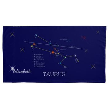 Constellation TAURUS unique, elegant Pillow Case