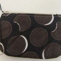 Zip Pouch - Phone Pouch - Cookie fabric