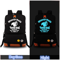 Fairy Tail Luminous Printing Canvas Backpacks