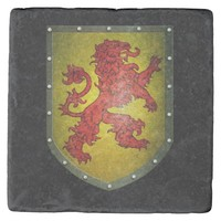 Red Lion on Yellow Shield