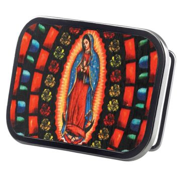 Virgin Of Guadalupe Wood Belt Buckle
