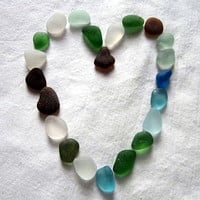 Beach Seaglass Lot- Jewelry Mosaics Decor Genuine Surf Tumbled