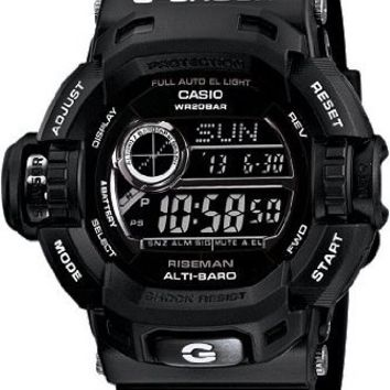 Casio G-Shock Riseman Multi-Function Digital Black Resin Mens Watch G9200BW-1CR