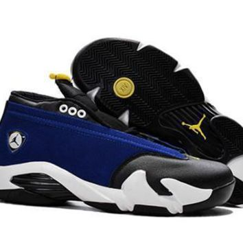 Cheap Air Jordan 14 Retro Men Shoes Navy Black