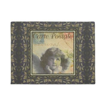 French Postcard Door Mat