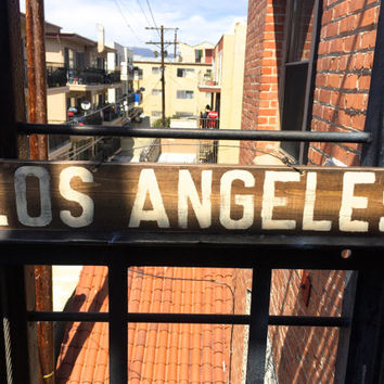Los Angeles Sign / Weathered Sign / Funky Sign / Wall Art