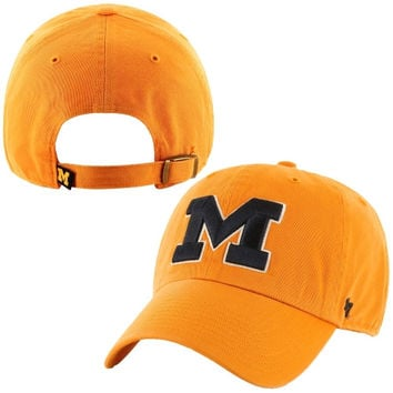 Michigan Wolverines '47 Brand Clean Up Adjustable Hat - Gold