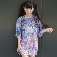 "Chikuwaemil ""Multiverse Psychedelia"" Big Full Graphic Printed T-Shirt [Pre-order]"