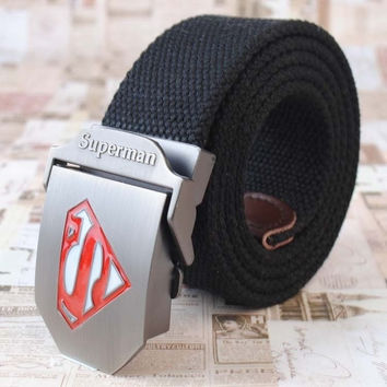 Superman Belts Men's Canvas Belt Children Belts Toddies Fashion Belts Boy Men Stylish Belt = 1946157316