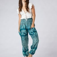Minnie Teal Harem Pants