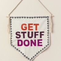 Get Stuff Done Canvas Banner Flag
