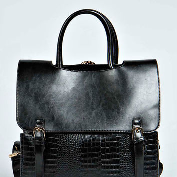 Lucy Back Pack And Top Handle Mock Croc Bag