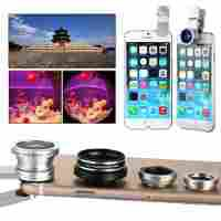 XCSOURCE® 4in1 Fish Eye Lens + Wide Angle Macro Lens + CPL Polarizer Lens Camera Lens For iPhone 4S 5 5S 5C 6 6 plus Samsung Galaxy s4 s5 s6 Note 2 3 4 DC587