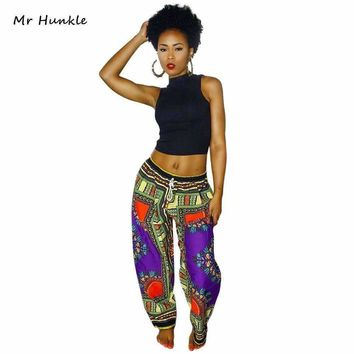 New Luxury Design Woman Pants Traditional African Clothing Print Dashiki Pants For Women