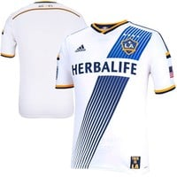 adidas LA Galaxy White Authentic Home Soccer Jersey