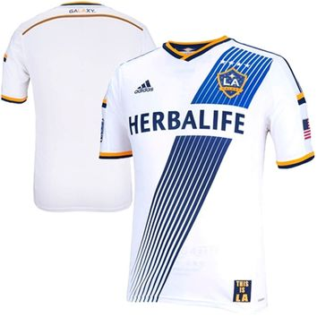eed50227fab adidas LA Galaxy White Authentic Home from FansEdge