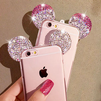 3D Mickey Mouse Ear Case For iPhone Phone Covers