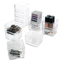 "Break-Resistant Plastic Drawer Organizers 3"" x 3"" x 2"" l Set of 12"