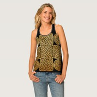 Celtic Knotwork Cross Tank Top