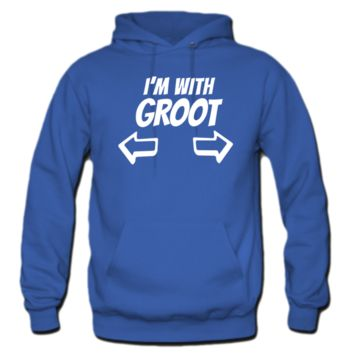 i am with groots hoodie