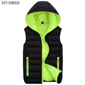 2018 New Stylish Autumn Winter Duck Down Vest Men High Quality Hoodies Warm Sleeveless Jacket Casual  Waistcoat Free Shipping