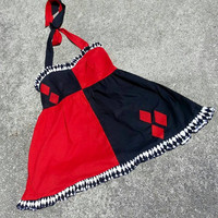 Harley Quinn Halter Dress XS - XL