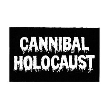 CANNIBAL HOLOCAUST Patch Horror Movie Film Halloween Scary Snuff Red Black Screen Print Silkscreen Printed Canvas Punk Rock Metal Goth Blood