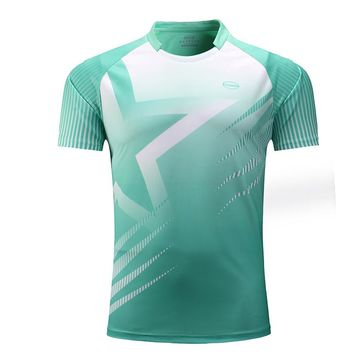 Men Sportswear Badminton Shirts Jerseys Volleyball Golf Table Tennis t-shirt Sports Clothes POLO T Shirts Quick Dry Customized