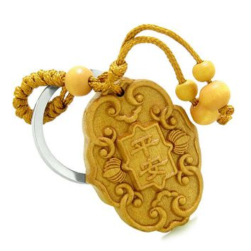 Amulet Lucky Charm Magical and Protection Powers Feng Shui Symbols Keychain Blessing
