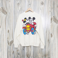 Vintage Mickey Mouse and Minnie Mouse Sweatshirt