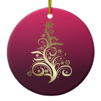 Sparkling Christmas tree Ceramic Ornament