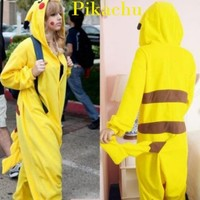 New Japan Anime Pikachu Pokemon Cosplay Romper Kigurumi Animal Costumes Pyjamas Xmas Gift (M)