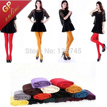 Women/Girl Over the Knee Socks Colorful Thigh High 80D Sexy Hold up Stockings Candy Colors for Media Women with Colorful Option