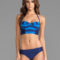 Splendid Marcel Stripe Top in Navy & Blue
