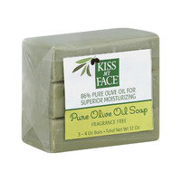 Kiss My Face Pure Olive Oil Moisturizing Soap - Pack of 3 - 4 oz