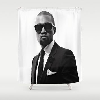 Mr. West Shower Curtain by Neon Monsters