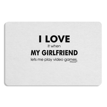 I Love My Girlfriend Videogames Placemat