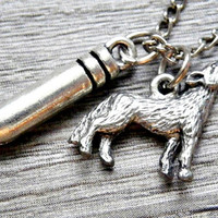 Werewolf Slayer: bullet and wolf necklace