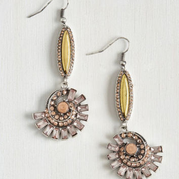 Vintage Inspired Expressive Energy Earrings by ModCloth