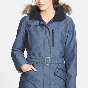 Women's Columbia 'Carson Pass II' Hooded Waterproof Jacket with Removable Faux Fur
