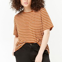 Plus Size Marled Striped Tee